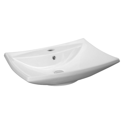 Concave Rectangular 605mm Vessel Counter Top Basin - 1 Tap Hole